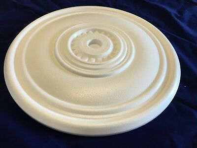 2 x 40 cm Hexagonal Ceiling Rose Polystyrene Easy Fit Very Light Weigth