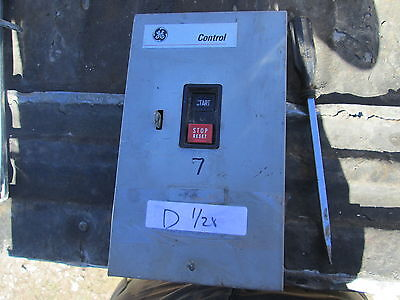 Used GE Manual Motor Starter CR1062R2B w/Type 1 Enclosure