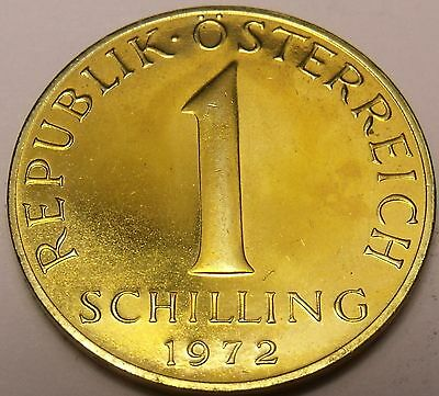 Proof Austria 1972 Schilling~80,000 Minted~Edelweiss Flower~Free Shipping