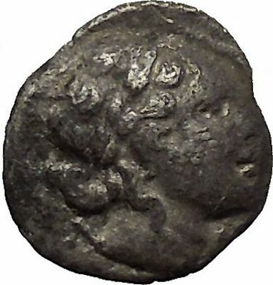 LYCIAN LEAGUE Masikytes Lycia 48BC Apollo Lyre Ancient Silver Greek Coin i53661