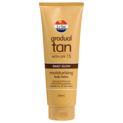 NEW Le Tan Sunscreen Glow Dark Spf 15+ Enriched With Moisturizing 250ml