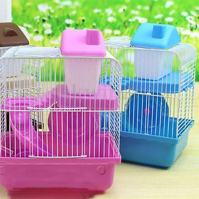 Dwarf Hamster Gerbil Mouse Small Pet Cage 2 Storey Levels For Small Animal
