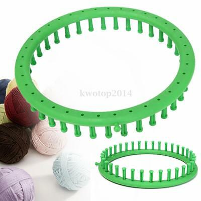 Green Round Classical Circle Hat Knitter Knifty Knitting Loom DIY Kit Dia 24CM