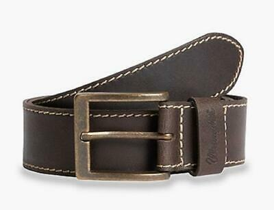 "Wrangler Geniune Leather Basic Stitched Belt in Brown,Size XS (32"") To XXXL(46"")"