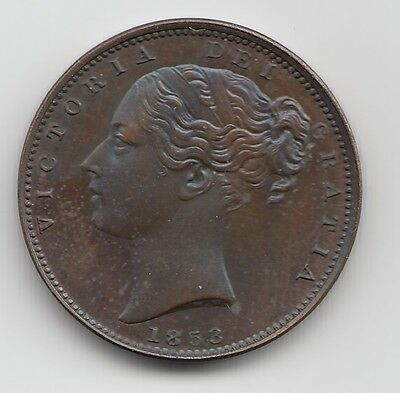 Very Rare 1853 PROOF Farthing 1/4d - Queen Victoria