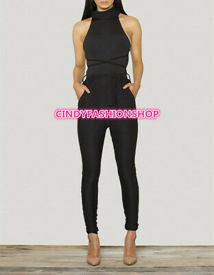 6505f28458a0 New Women Sleeveless Party Jumpsuit Sexy Backless Pants Romper Playsuit  Clubwear
