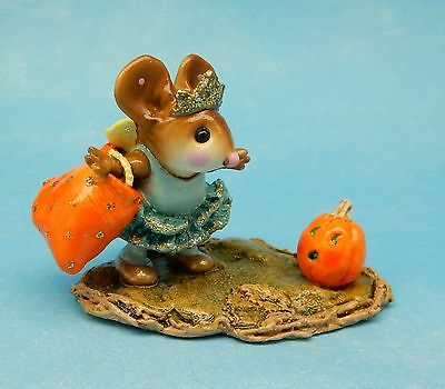 Wee Forest Folk THE HALLOWEEN PRINCESS, M-299, Retired, Teal