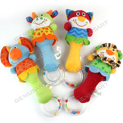 Bed Bell Developmental Toy Kids Newborn Baby Toy Animal Handbells Rattle Toy New