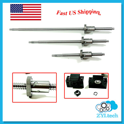 ZYLtech Precsion (TRUE C7) 16mm Antibacklash Ball Screw 1605 w/ Ballnut - 550mm