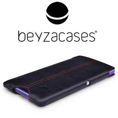 Genuine Xperia E1 Beyzacases Slimline Leather Pocket Pouch Cover Case