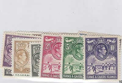 TURKS & CAICOS ISLANDS #78 to #89 *  Cat $79 high value mint