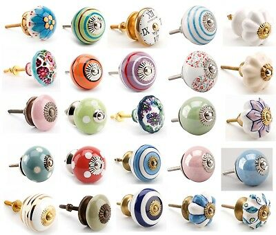 Vintage Ceramic Drawer Knob Pull Handles Door Cupboard Cabinet Knobs ty