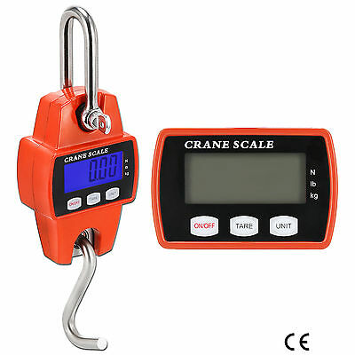 Mini Crane Scale 300KG/660LBS Industrial Hook Hanging Weight Digital LCD Display