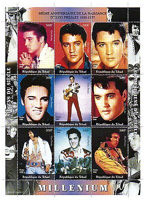 Chad Stamps 2000 65th Anniversary of the birth of Elvis Presley / MNH