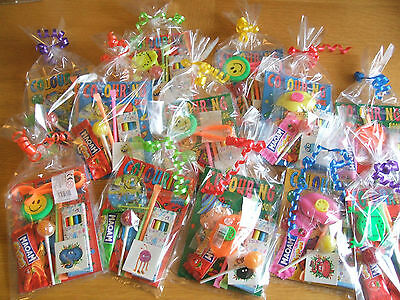 10 Pre Filled Childrens Unisex Party Loot Bag Birthday Wedding Favour Boys Girls