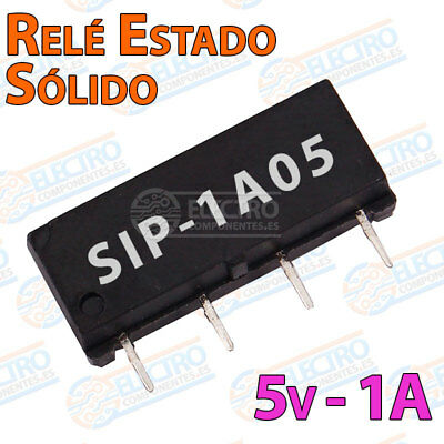 MINI Rele estado solido SIP-1A05 reed switch relay 5v 1A 4 pines SPST-NO