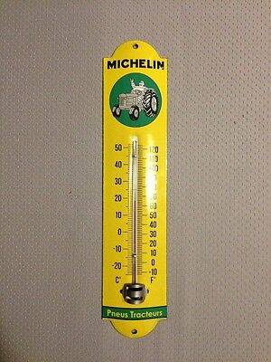 Michelin man Sign Arched metal sign thermometer Vintage enameled