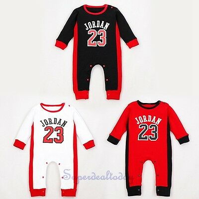Baby Boys Long Sleeves Sport Style Jumpsuit Romper One Piece Size 0,1,2Y
