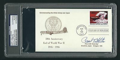 Paul Tibbets signed cover PSA Authenticated Pilot of the Enola Gay WWII