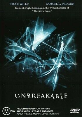 Unbreakable - Bruce Willis, Samuel L. Jackson - Thriller Movie DVD R4 New! *