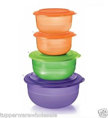 New Tupperware Table Collection Serving Bowls 1.1L 3.5L 2.1L 1 Set of 4
