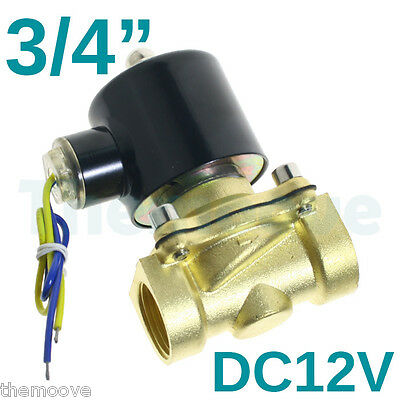 """2 Position DC 12V 3/4"""" Solid Coil Electric Solenoid Valve Gas Water Fuels Air AU"""