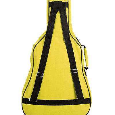 Yellow PADDED Guitar bag GIGBAG Carry Case 38inch 3/4 Childrens Kids oxford D
