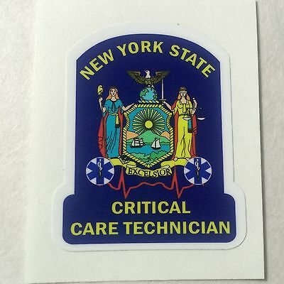 New York State Critical Care Technician Exterior applied Decal 4""