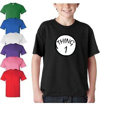 Kids Summer Casual Thing 1 Thing 2 Family costume T Shirt Child Clothes Tee Top