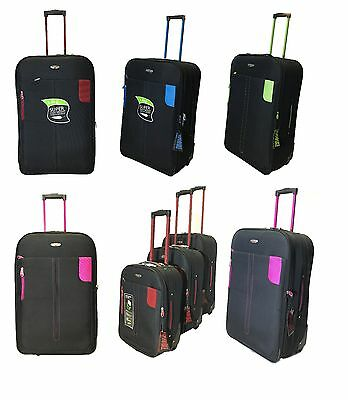 Expandable Lightweight Suitcase Travel Luggage Trolley Wheeled Case Bag Suitcase