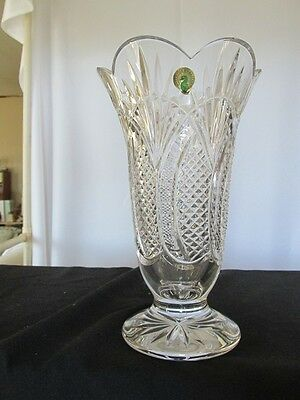 Waterford Seahorse Large Footed Vase Crystal Made In Ireland