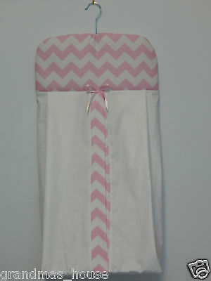 Beautiful Chevron Nappy Diaper Stacker 100% Cotton  **Available in 9 Colours**