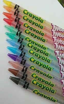 Crayola TWISTABLES COLORED PENCILS 12 Pack No Sharpening! Twist up the Fun!