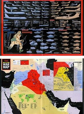 Time Magazine Desert Storm Persian Gulf War Map