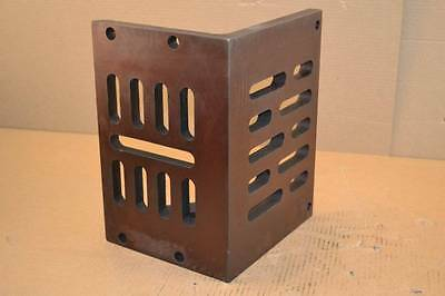 "Interstate 12"" x 9"" x 8"" Cast Iron Partially Machined Slotted Angle Plate 001440"