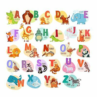 Nursery Wall Decals. Kids Stickers. Animal Stickers for Boys and Girls