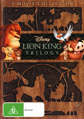 The Lion King 1 2 3 Trilogy DVD R4 Brand New!