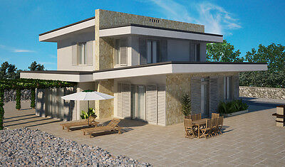 House plan - Mediterraneo moderno - custom blueprints