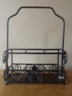 Longaberger Wrought Iron Utensil Caddy - NEW in box