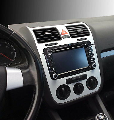 VW GOLF 5 V- Set alu   for consol, steering and air vents, Manual A/C.