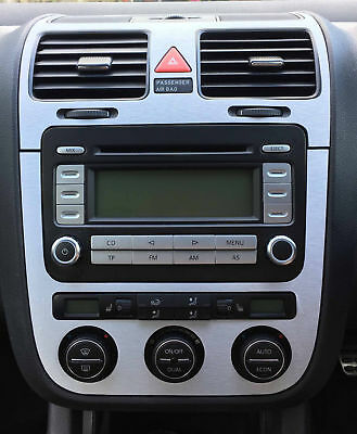 VW GOLF 5 Set alu stickers aluminium  for  version   Climatronic