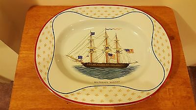 RARE Mottahedeh Bicentennial U.S. Frigate Hornet Limited Edition Platter Italy
