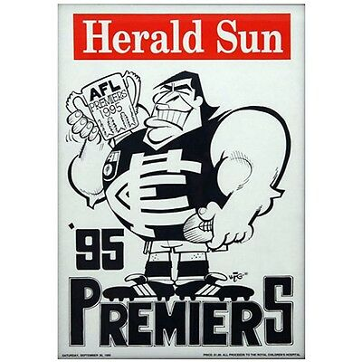 Carlton Blues Official Afl Premiers 1995 Weg Herald Sun Poster (Original) Rare