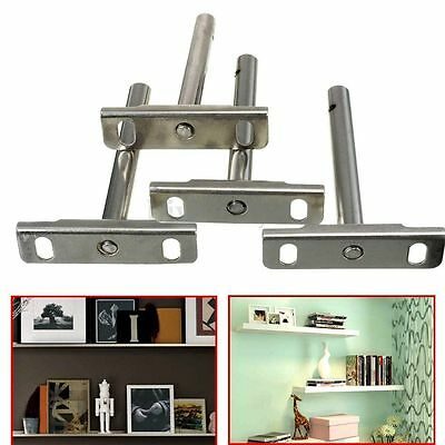 4Pcs Hidden Shelf Concealed Install Shelf Support Floating Bracket Install Set