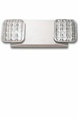 LED Two Head Emergency Light with Battery Back-up White Ciata Lighting