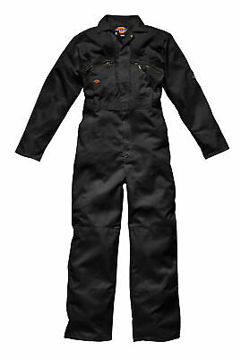 Dickies Redhawk Coverall Overalls Boiler suit zipped black, wd4839 MENS WORKWEAR