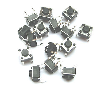 10x DIP 4pin Taster  Microtaster 6x6x6mm _ Push Button