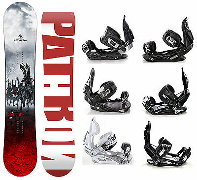 Snowboard Pathron Legend Grey + Raven Bindungen M/L oder L - Neu!