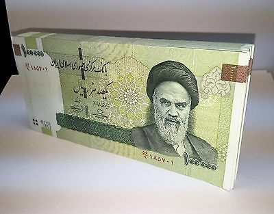 20 x Iran 100000 (100,000) Rials Banknotes-Uncirculated paper money currency