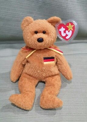 Ty Beanie Baby GERMANIA the German Exclusive Bear w/many Errors  Gasport *MWMT